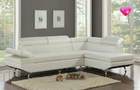 [CLEARANCE] Moderno White Sectional Houston