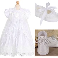 New baby christening pearled gown Montreal, H1Y 0B6