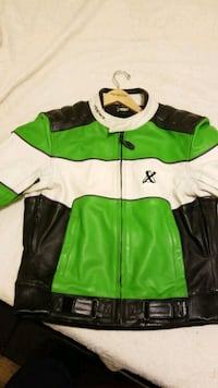 green and white zip-up jacket Charlotte, 28216