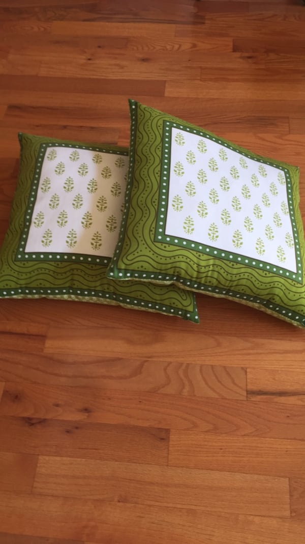 Used Two West Elm Floor Cushions