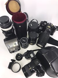 Vintage camera set with lenses and case Vienna, 22182