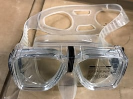 tempered glass goggle diving mask