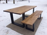 Table and bench St Albert, T8N 1Y4