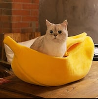 Banana Bed for Small Cats or Dogs VANCOUVER