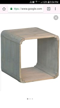 New renwil ta181 bronte white wash side table  Visalia, 93291