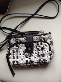 Black and white side bag Sparta, 38583