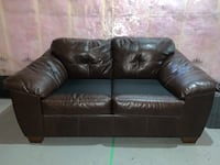 Leather loveseat couch