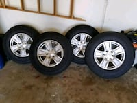 four gray 5-spoke car wheels with tires New Orleans, 70112