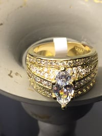 18k Gold Filled Engagement Solitaire Ring Size 7