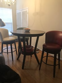 Dinner table with 3 leather stools  Fairfax, 22030