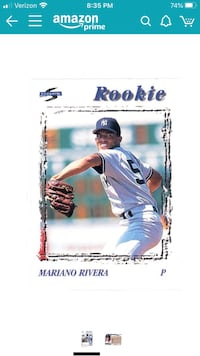 Mariano Rivera Rookie Card Bellingham, 02019