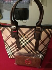 black and white leather tote bag Hartford, 06114
