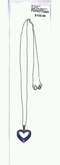 silver chain link necklace with pendant Candler, 28715