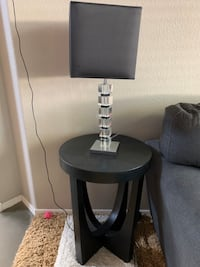 End table with nightstand lamp