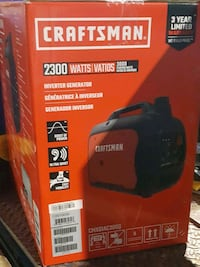 2300w/ 3000 starting watts Craftsman inverter generator