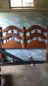 Queen headboard and rails