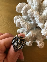 Sz 9 and 9 stainless steel owl ring