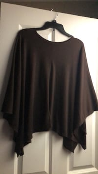 Brown super soft Poncho worn once fits most
