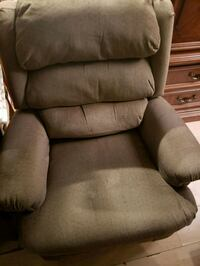 brown fabric padded recliner chair Evansville, 47712