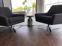 2 west elm mid-century swivel chairs.  San Diego