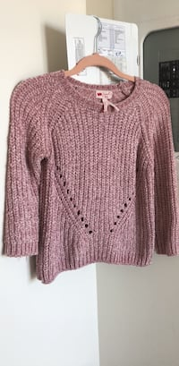 Pink sweater top size xs