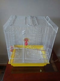 white and yellow bird cage Brampton, L6T 2E3