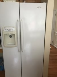 white side-by-side refrigerator with dispenser Woodbridge, 22193