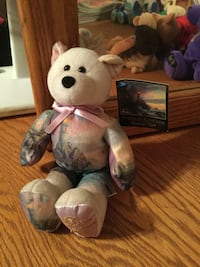 Purple bear plush toy