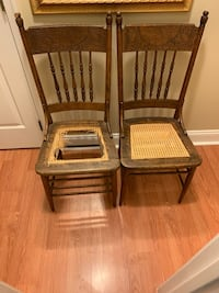 Antique cane bottom chairs Waldorf, 20601
