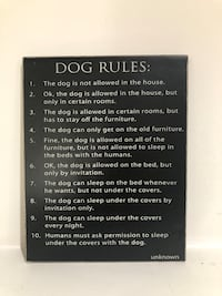 Dog Rules Sign  Fairfax, 22030