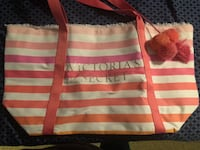 white and pink striped tote bag Jacksonville, 32256