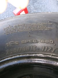 New tires 265 /70R16 Baltimore, 21215