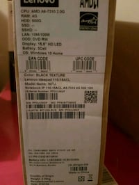"Brand new In box 15"" lenovo laptop  Hamilton, L9C 5P9"