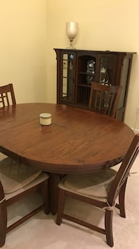 Wooden dining table with chairs and chest set Collier, 15142