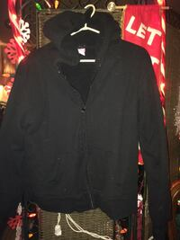 Black zip up coat wool inside  Kelowna, V1X