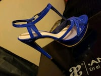 pair of blue open-toe ankle strap heels 1682 mi