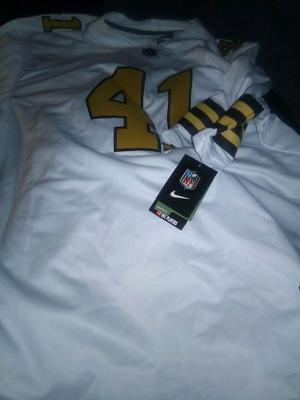 white and black NFL jersey