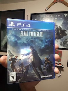 Final Fantasy 15 SONY PS4 game case