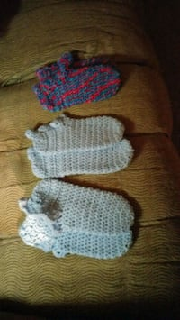 two pairs of knitted socks sold separately.mm Thomson, 30824