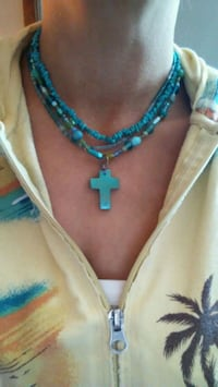 turquoise cross pendant necklace Chilliwack