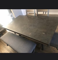 Table bench and chairs