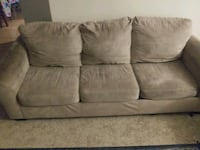 brown suede 3-seat sofa Monroe, 98272