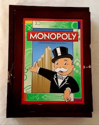 Monopoly Vintage Game Collection Parker Brothers Bookshelf Wooden Box