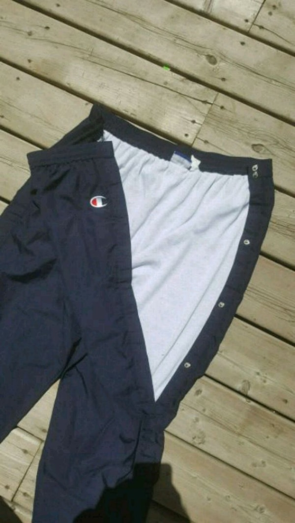 8abafae6 Used Champion Vintage 90s Navy Blue Tear Away Pants for sale in ...
