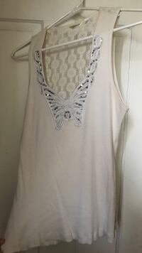 Women's white sleeveless top from maurices Piqua, 45356