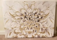 white floral canvas wall art Chicago, 60616