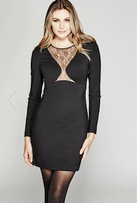 GUESS Marciano Black Lace Bodycon Dress - Size XS