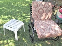 Rocking Chair , plastic table and cushion PLANO