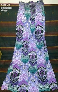 purple, green, and white floral sleeveless dress Auburn, 46706