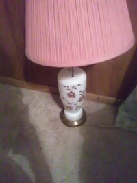 white and pink table lamp Florence